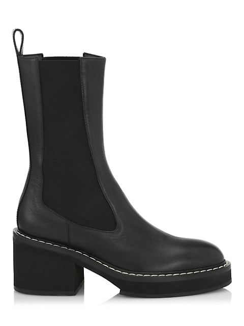Calgary Leather Chelsea Boots