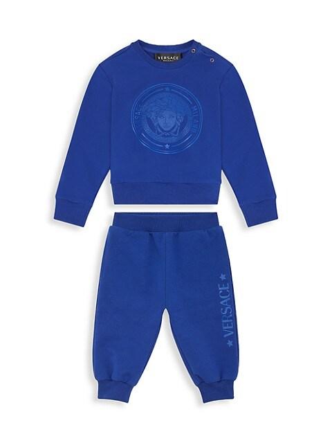 Baby's & Little Kid's 2-Piece Medusa Print Sweatshirt & Pants Set