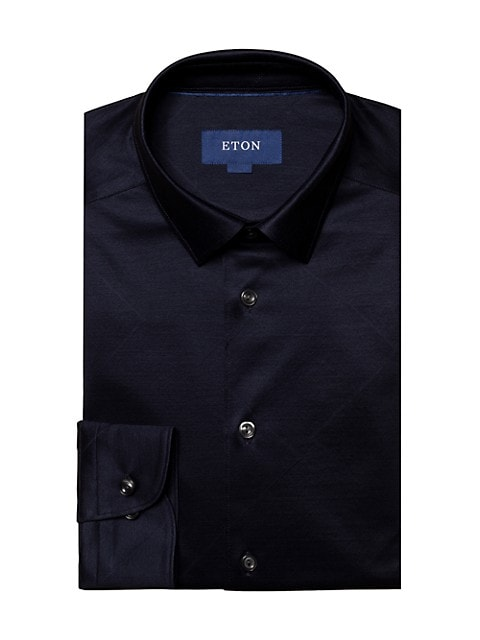 Turning To Nature Contemporary-Fit Jacquard Jersey Shirt