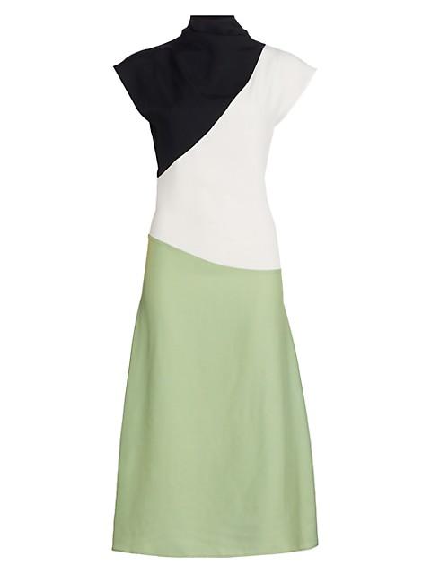 Tomasa Colorblock Midi Dress
