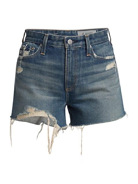 Alexxis Distressed Denim Shorts