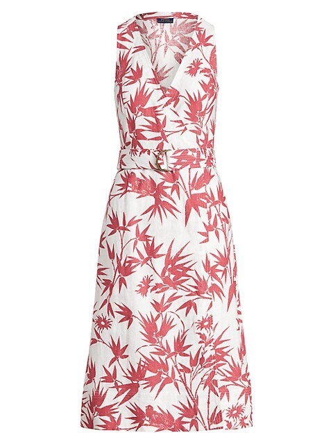 Floral Belted Wrap Dress