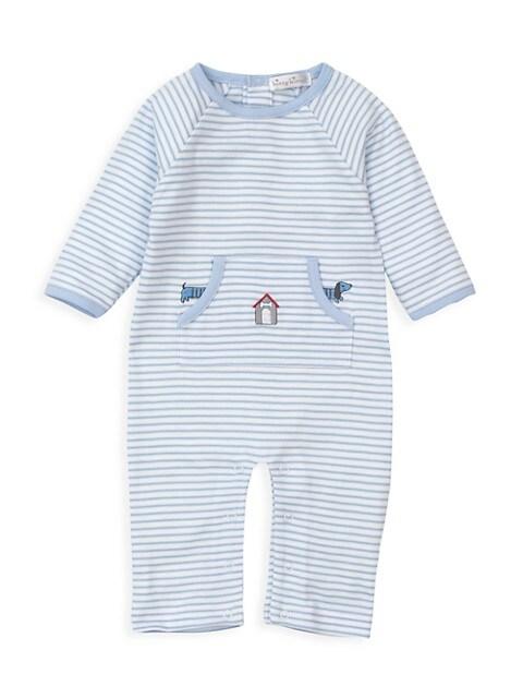Baby Boy's Furr-Ever Stripe Playsuit