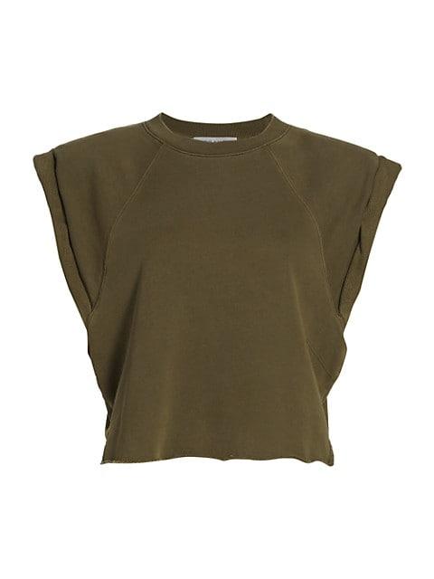 Cap-Sleeve Organic Cotton Sweatshirt