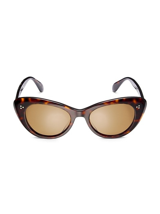 Oliver Peoples Rishell 51MM Cat Eye Sunglasses in Brown Tortoise