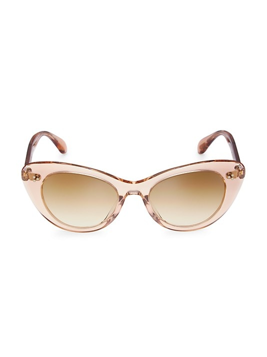 Oliver Peoples Rishell 51MM Cat Eye Sunglasses in Blush Pink