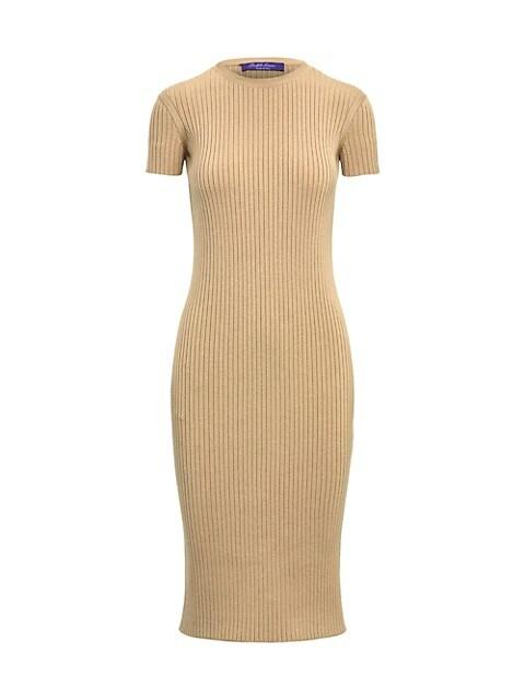 Rib-Knit Wool & Silk Day Bodycon Dress