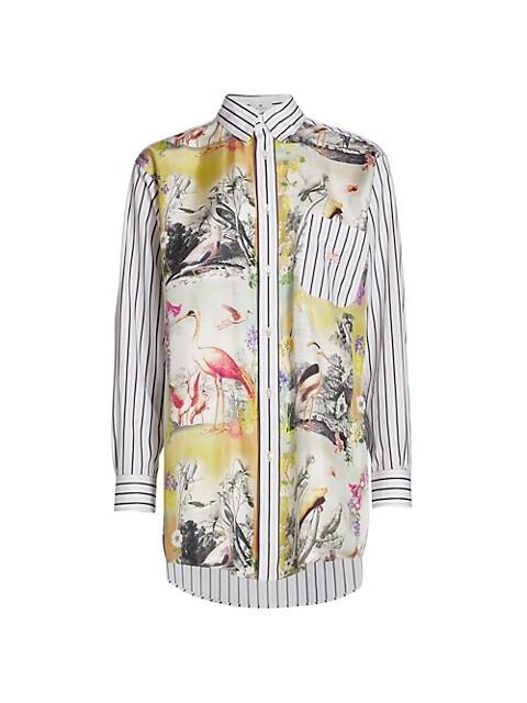 GE01 Tucano Pinstripe Silk & Cotton Shirt