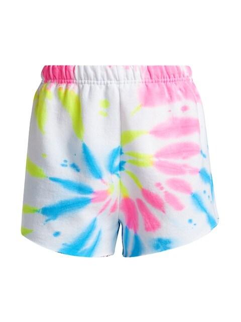 Neon Tie-Dye Shorts