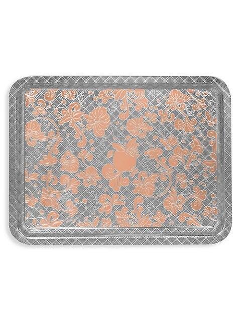 Jardin D'Eden Rose Gold & Silver-Plated Rectangular Tray