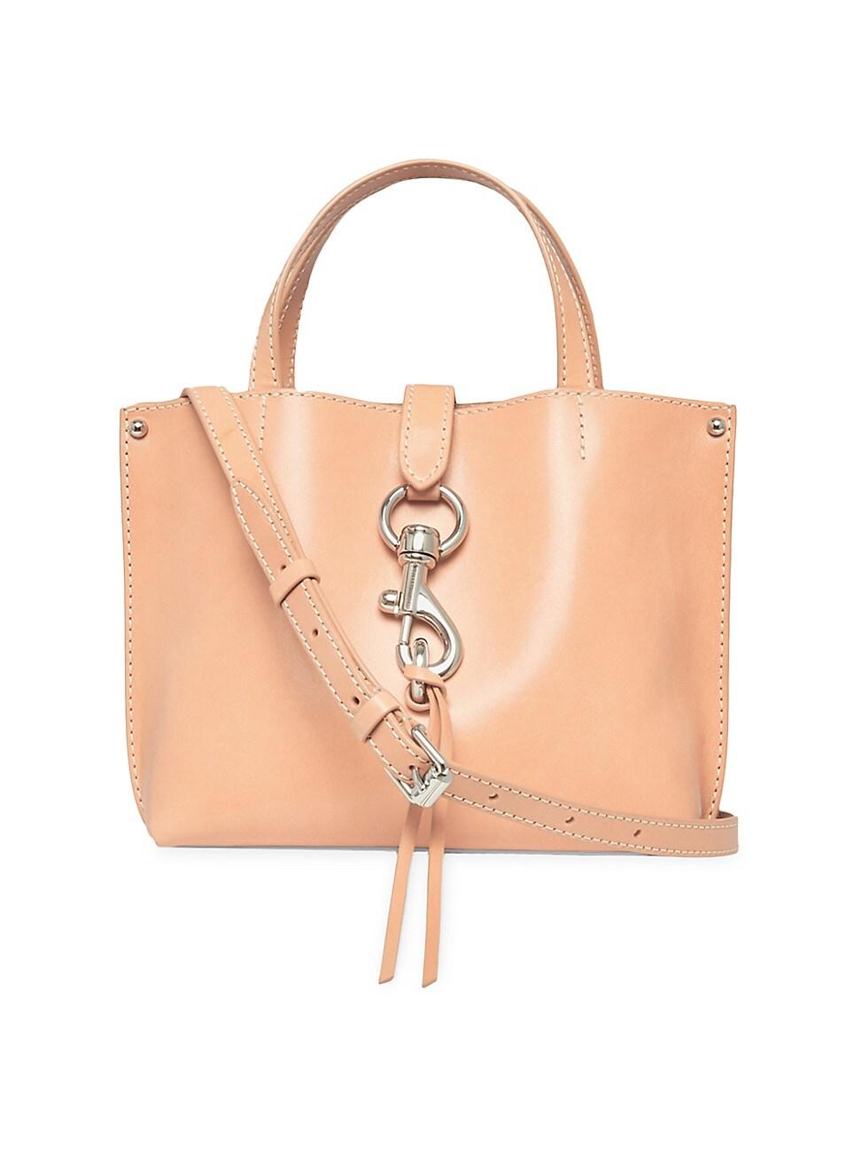 Rebecca Minkoff Women's Mini Megan Leather Tote Crossbody Bag In Peach