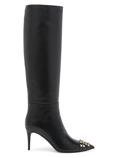 Rockstud Alcove Leather Knee-High Boots