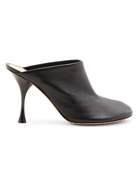 Wardrobe 02 Dot Sock Leather Mules
