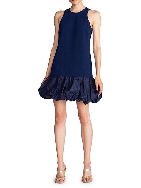 Bubble-Hem Halterneck Dress