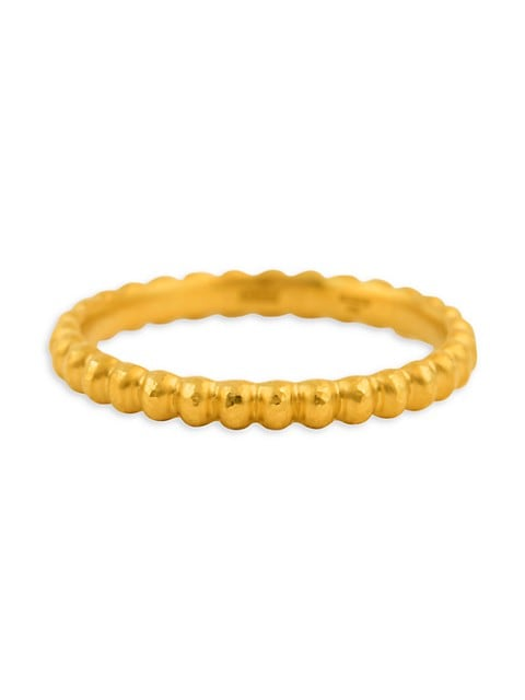 Rondelle 24K Yellow Gold Band Ring