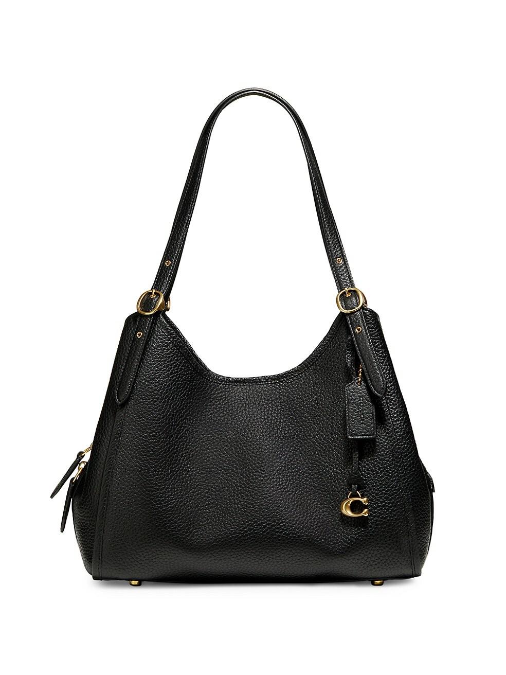 코치 숄더백 COACH Lori Leather Shoulder Bag,BLACK