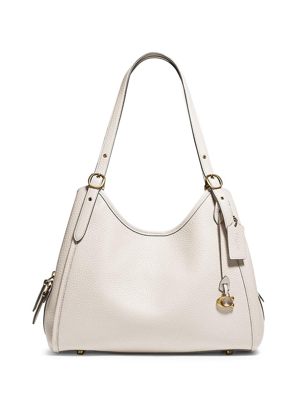 코치 숄더백 COACH Lori Leather Shoulder Bag,WHITE