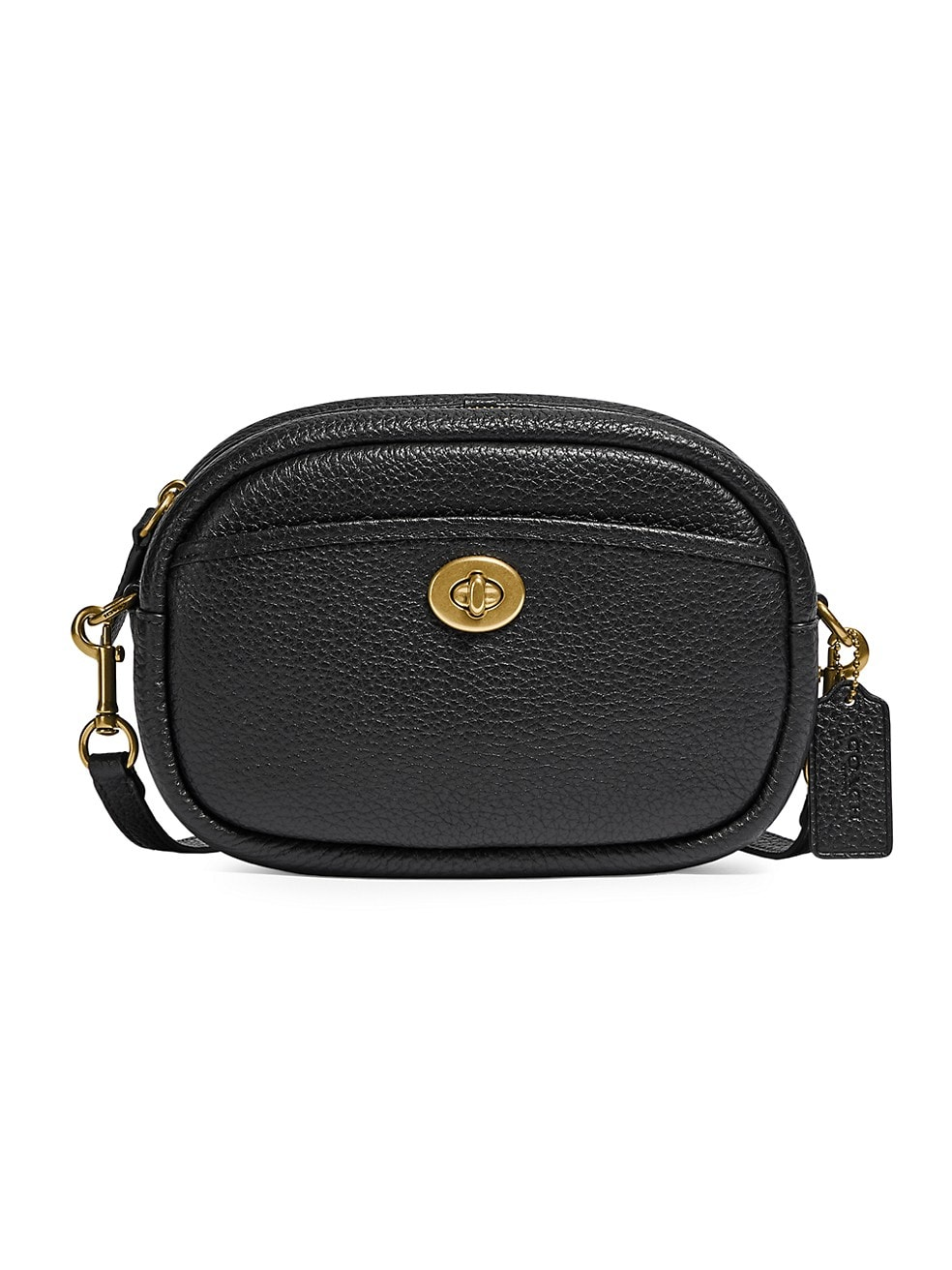 코치 카메라백 COACH Pebbled Leather Camera Bag,BLACK