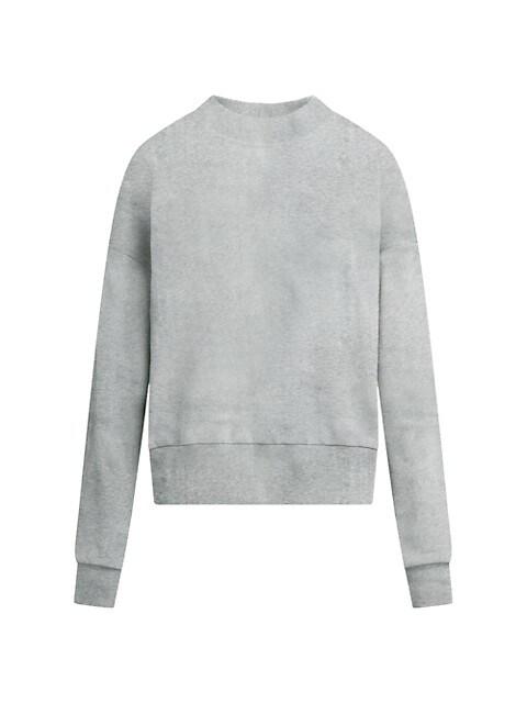 Cut-Out Crewneck Sweatshirt