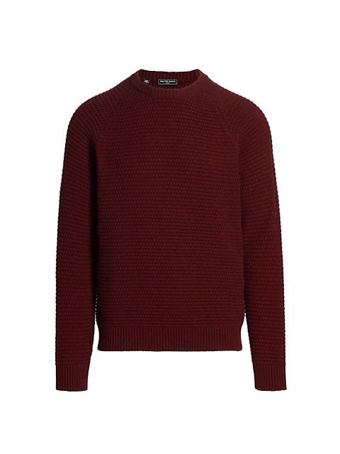 Slim-Fit Seed Stitch Crewneck Sweater
