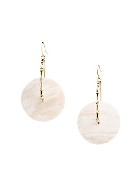 Anja Black Horn & Swarovski Crystal Hoop Earrings