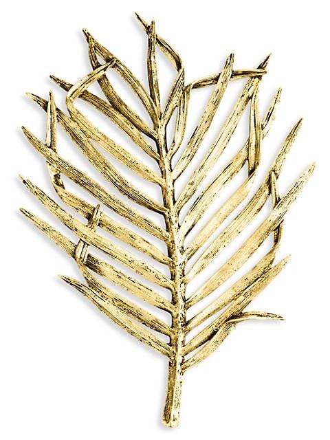 Palm Antique Goldtone Trivot