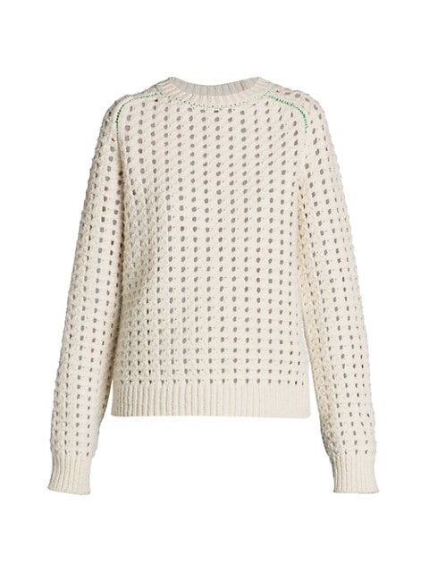 Heavyweight Open Cable Knit Sweater