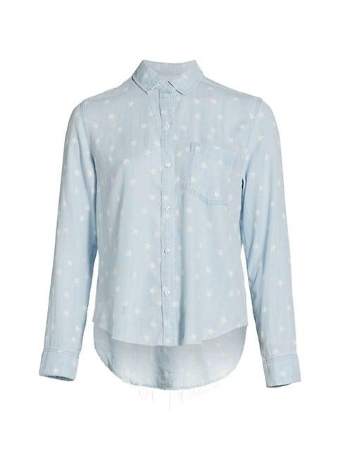 Ingrid Raw Star Print Denim Shirt