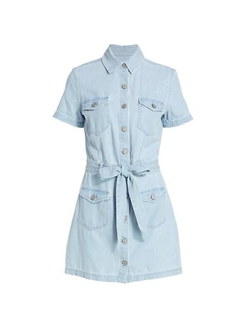 Danica Tie-Waist Denim Dress