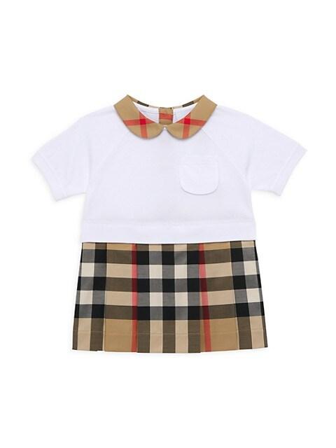 Baby Girl's & Girl's Vintage Check Shirtdress