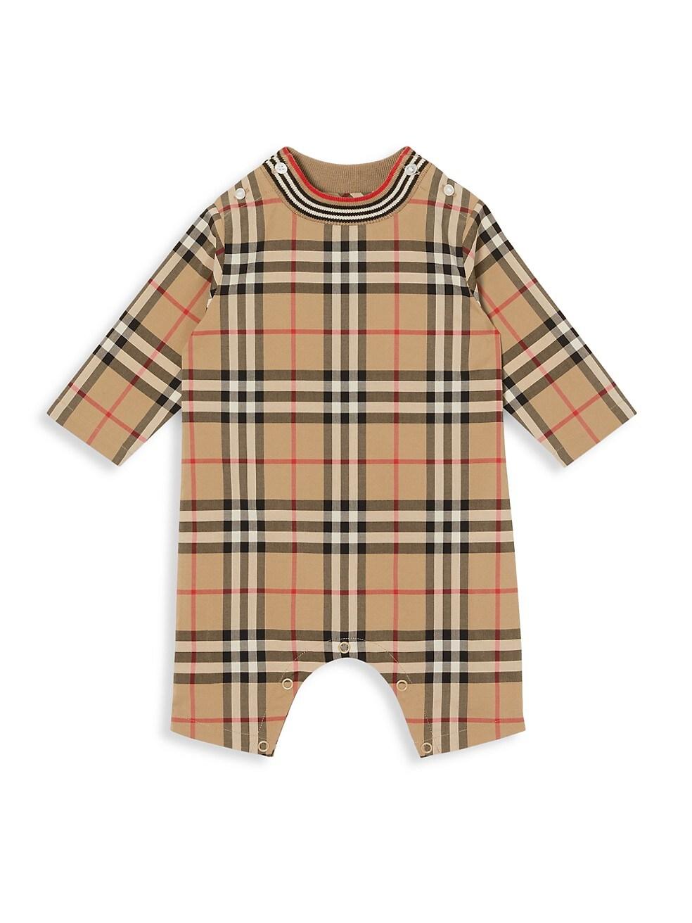 버버리 Burberry Babys Michael Vintage-Check Coveralls BEIGE