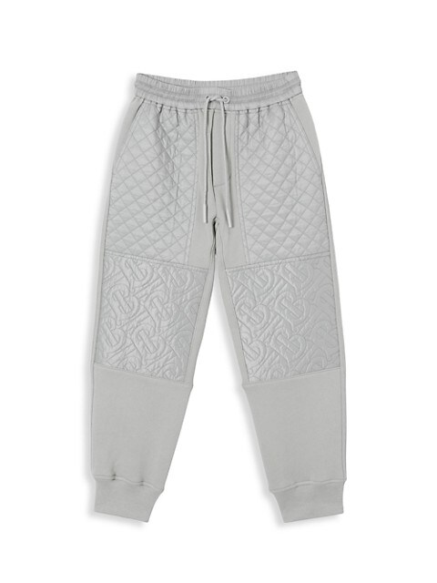 Little Boy's & Boy's Monogram Quilted Joggers