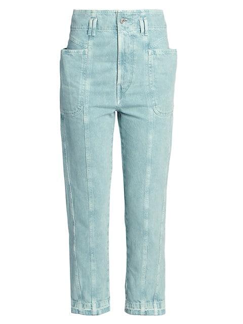 Tucson Denim High-Waist Cropped Jeans