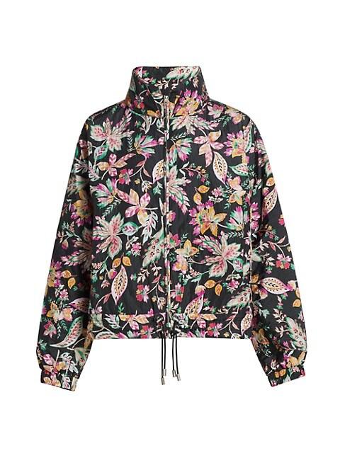 Dolores Floral Print Drawstring Jacket