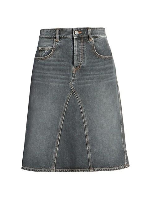 Fiali Spliced Denim Skirt