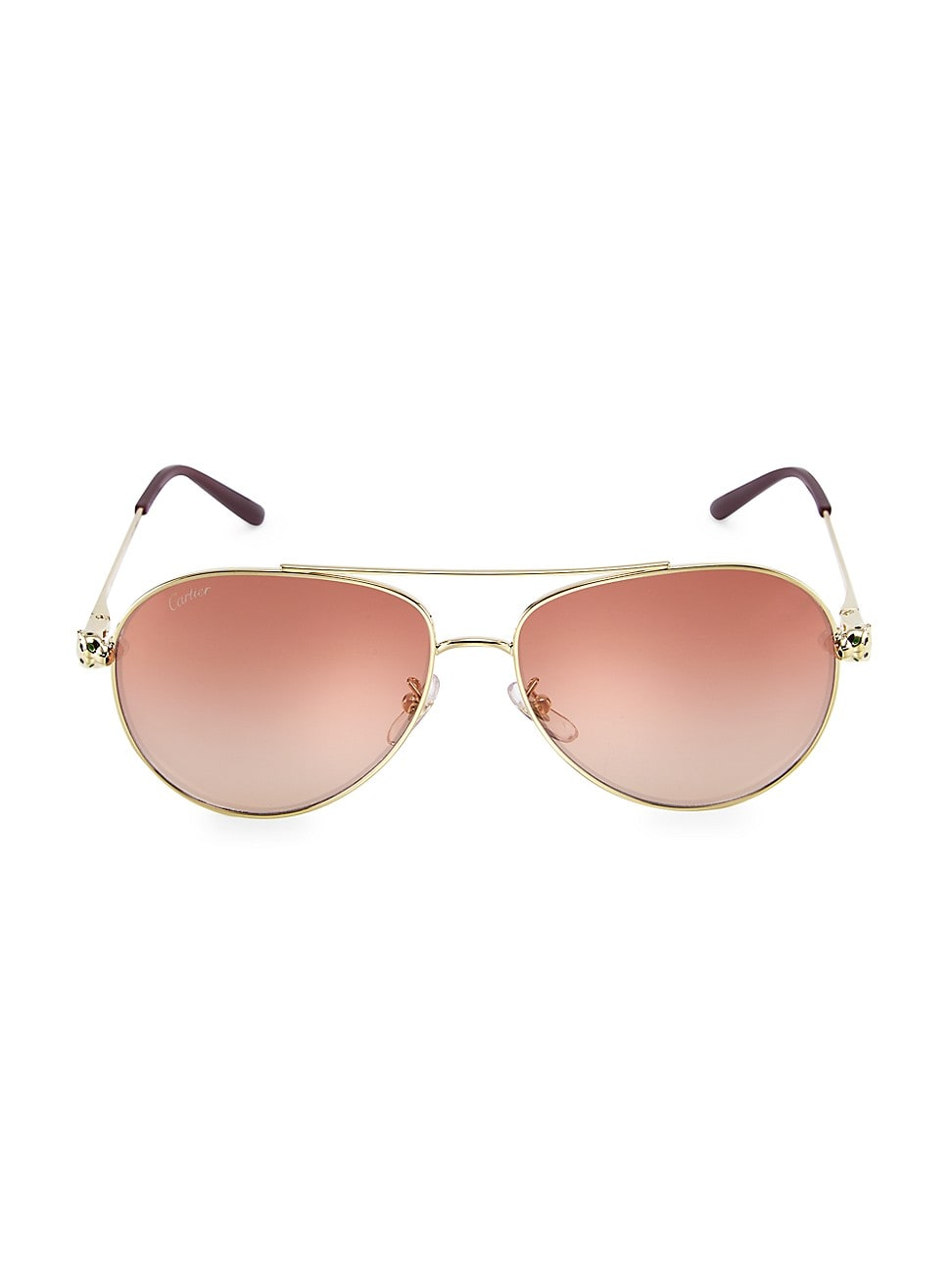 Cartier Women's 61mm Aviator Sunglasses In Gold