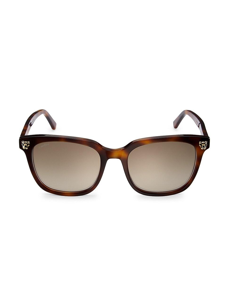 Cartier Women's 51mm Cat Eye Sunglasses In Brown