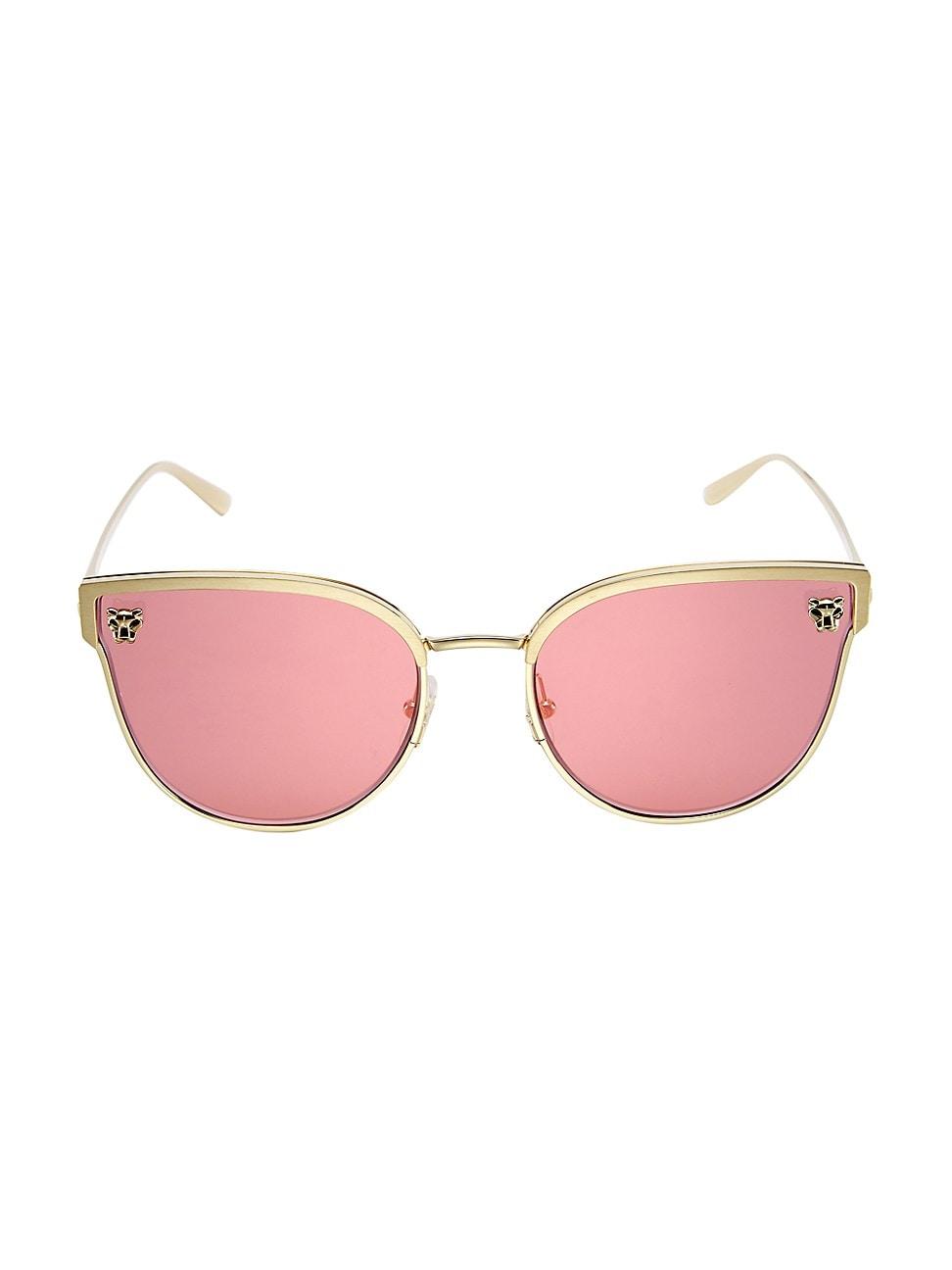 Cartier Women's 59mm Cat Eye Sunglasses In Gold