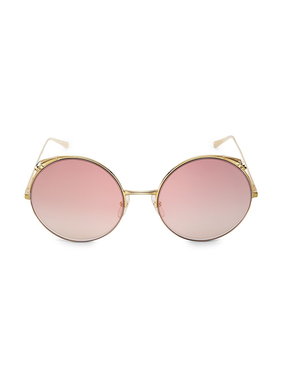 Cartier Women's 60mm Round Sunglasses In Gold