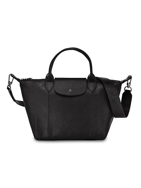 Le Pliage Cuir Small Handbag with Strap