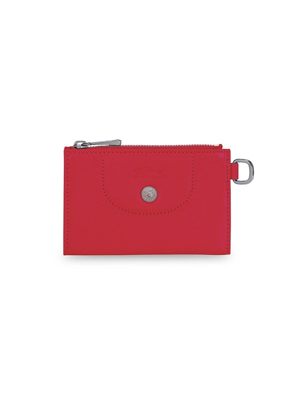 롱샴 파우치 Longchamp Le Pliage Leather Key Case,KISS RED