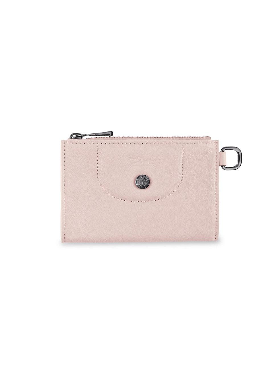 롱샴 파우치 Longchamp Le Pliage Leather Key Case,PALE PINK