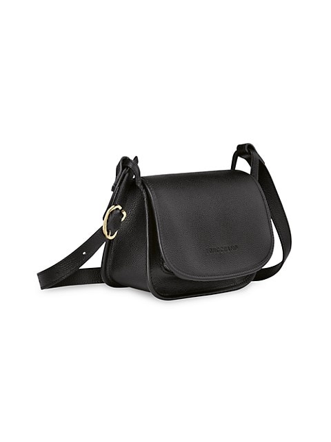 Small Le Foulonné Leather Saddle Bag