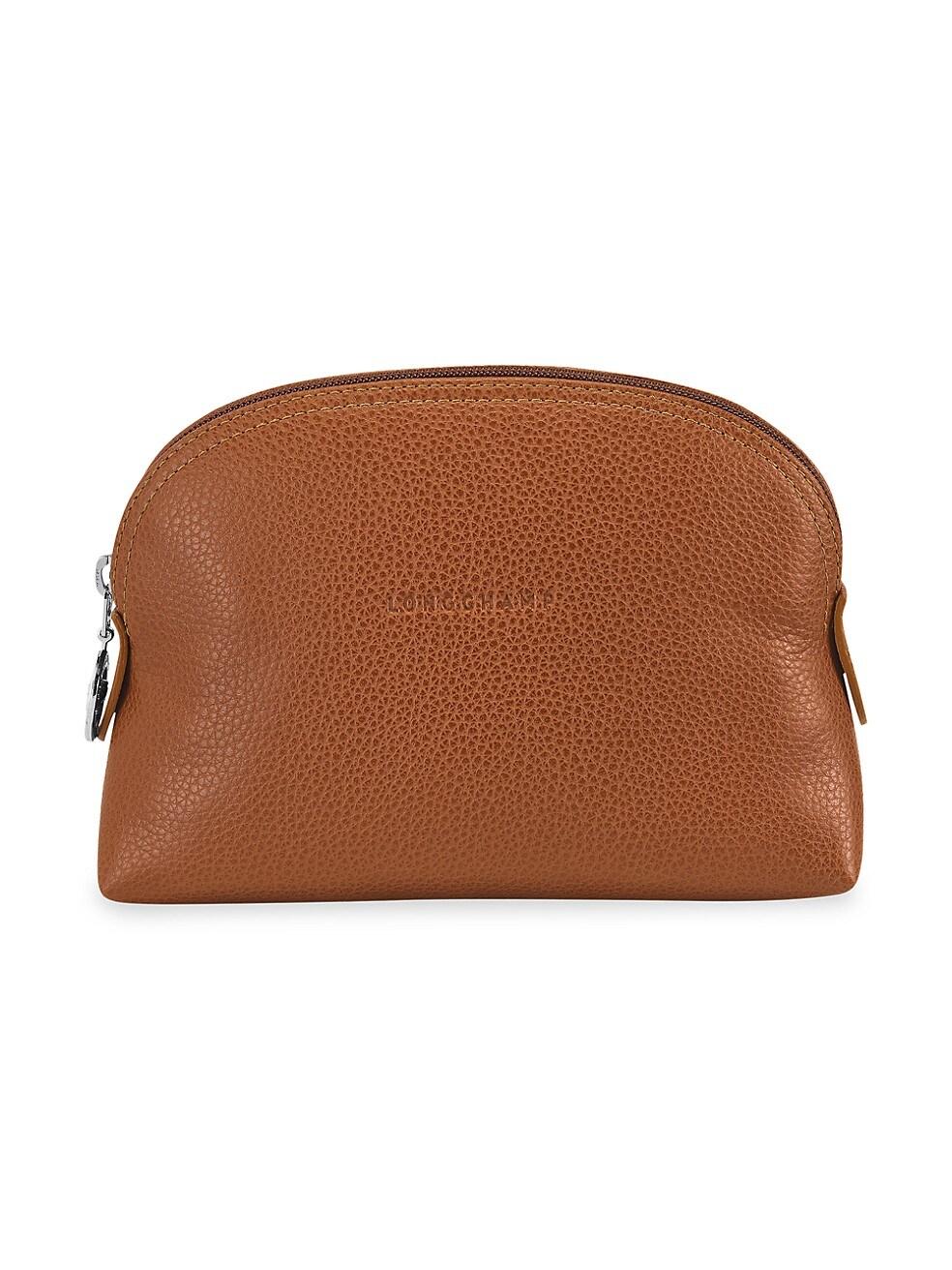 롱샴 파우치 Longchamp Le Foulonne Small Cosmetic Case,CARAMEL