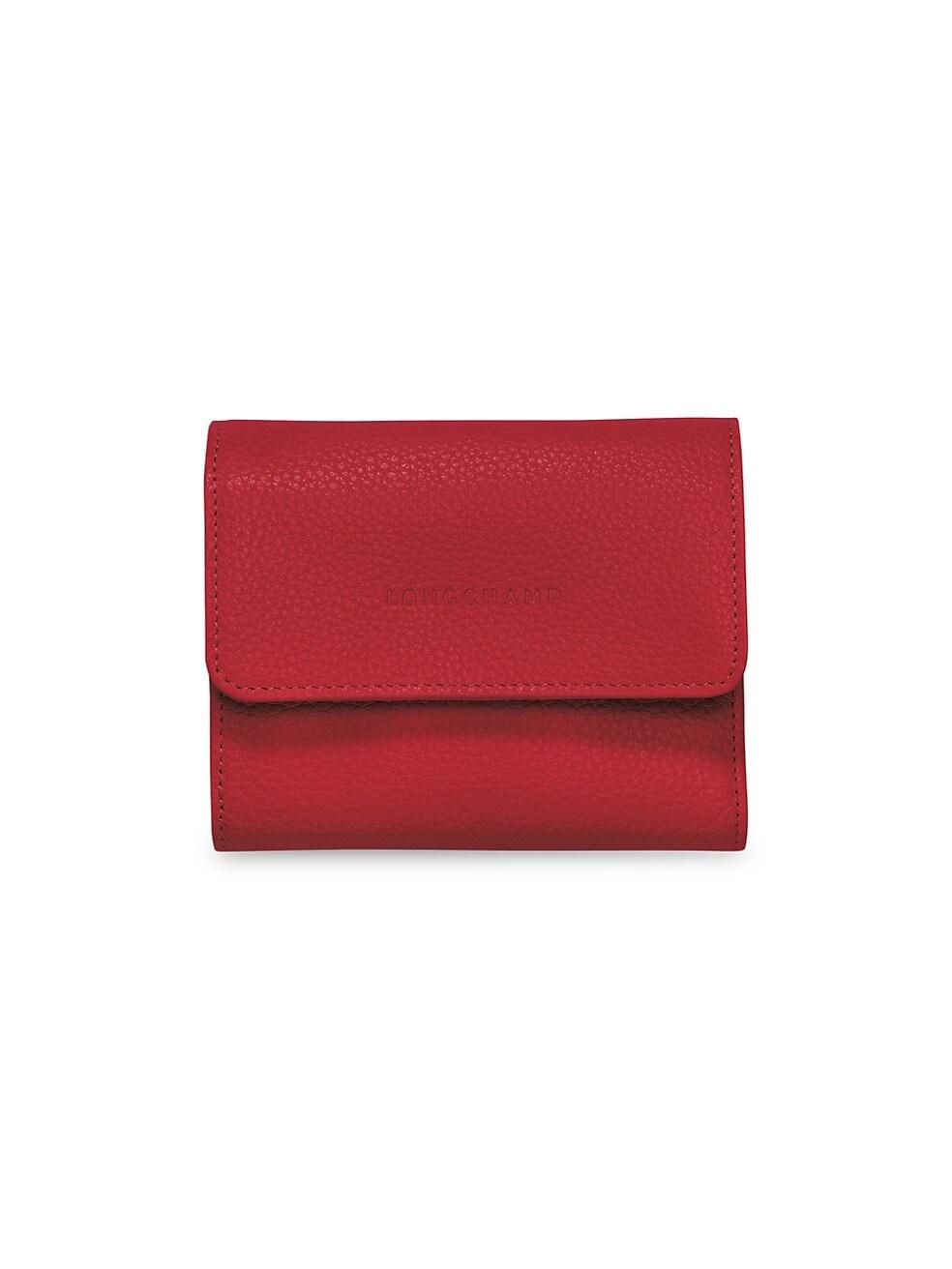 롱샴 지갑 Longchamp Le Foulonne Leather Wallet,RED