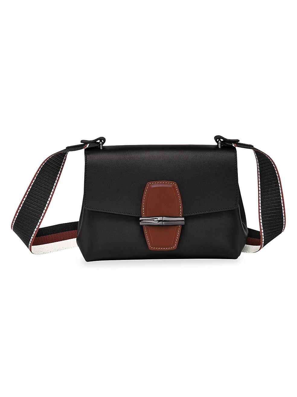 롱샴 크로스바디백 Longchamp Large Roseau Crossbody Bag,BLACK