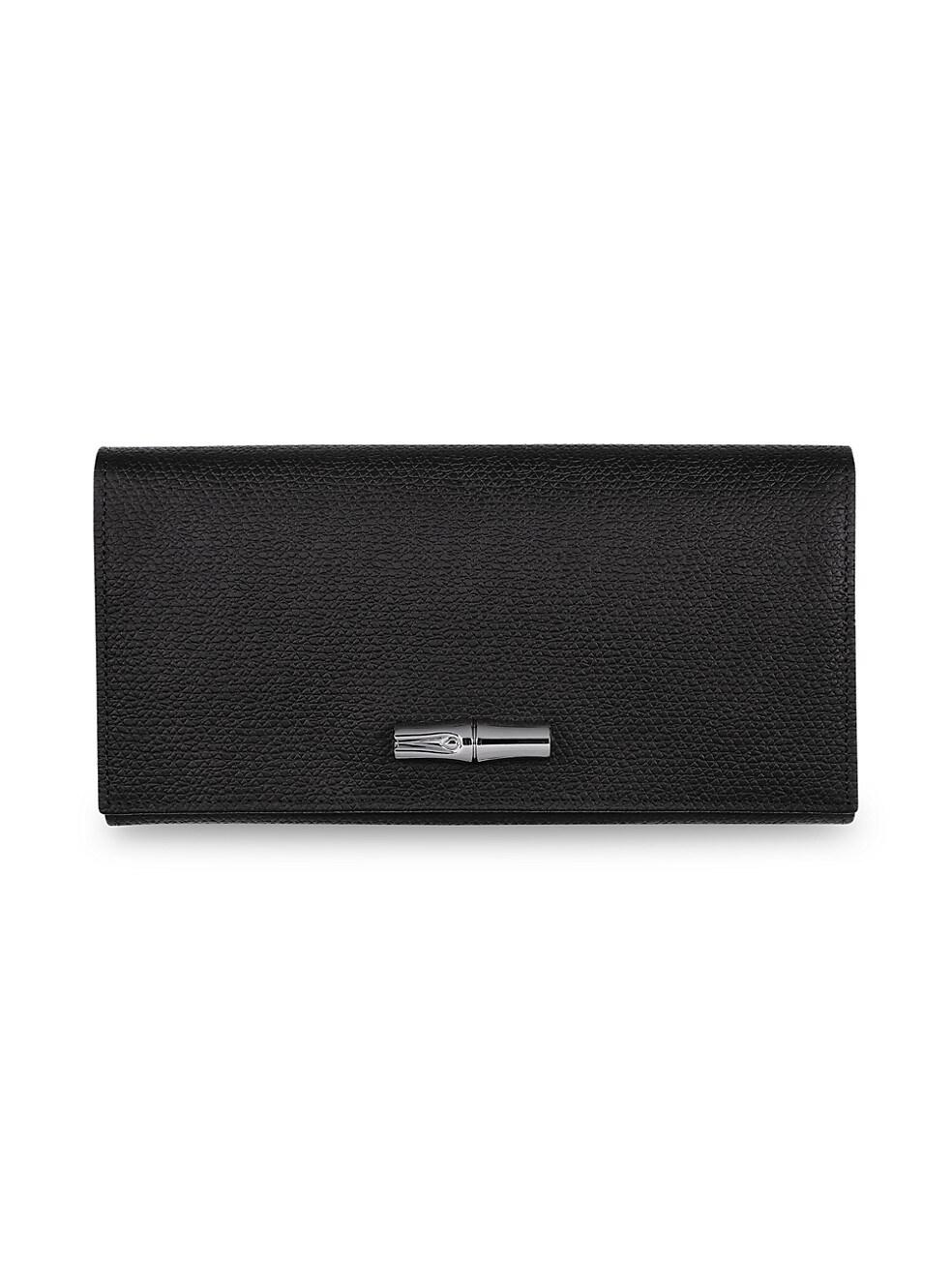 롱샴 지갑 Longchamp Roseau Continental Wallet,BLACK