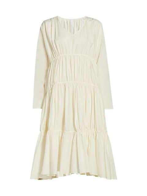 Ophelia Tiered Long-Sleeve Dress