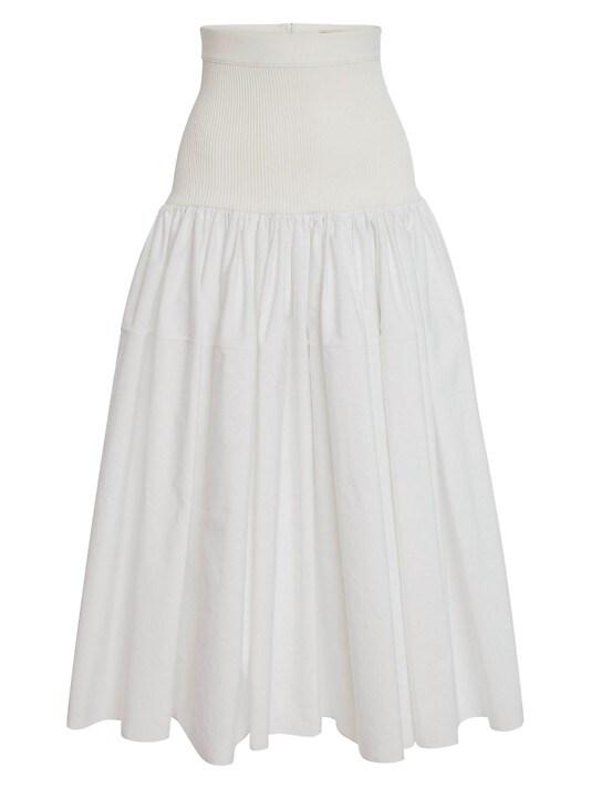 Alexander McQueen Hybrid Pop Skirt in Optical White