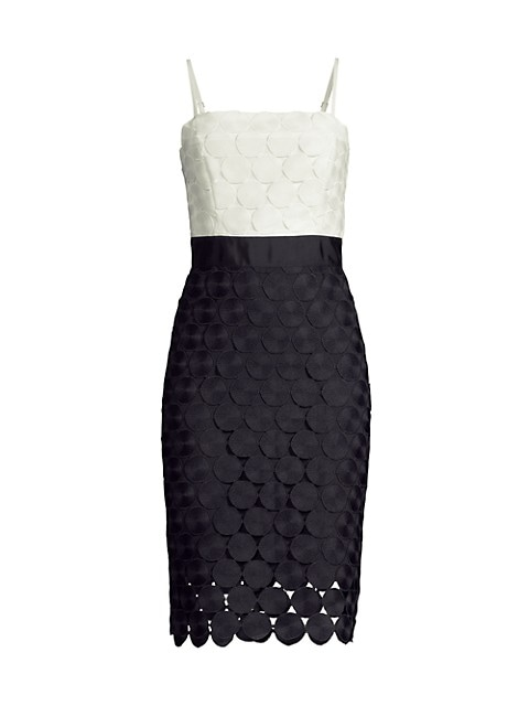 Embroidered Circles Cocktail Dress